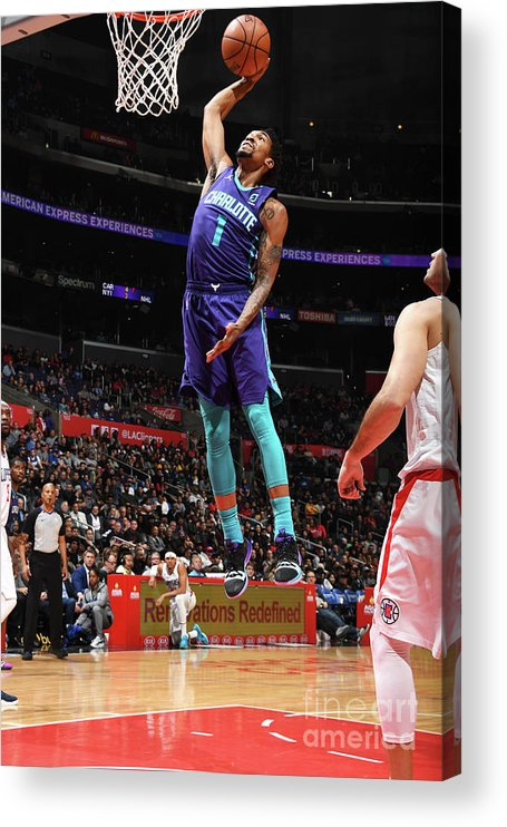 Nba Pro Basketball Acrylic Print featuring the photograph Malik Monk by Andrew D. Bernstein