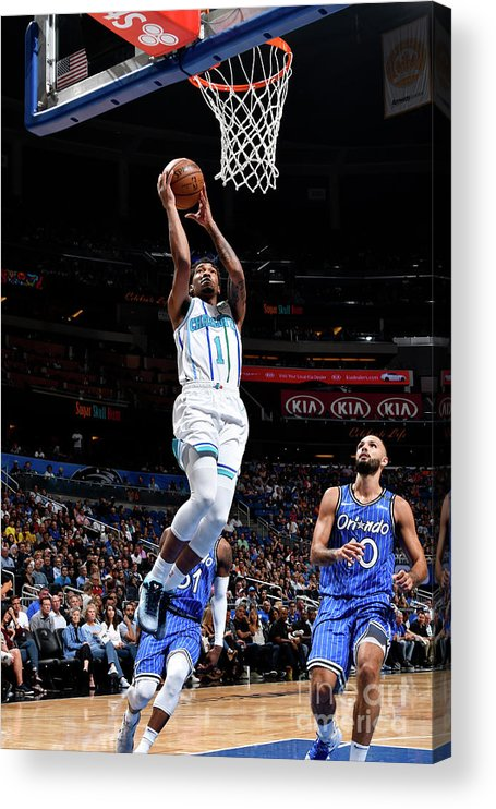 Nba Pro Basketball Acrylic Print featuring the photograph Malik Monk by Fernando Medina