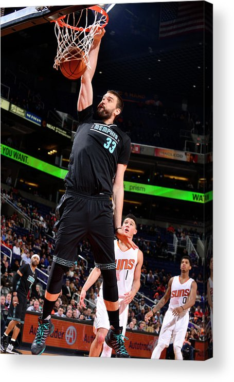Nba Pro Basketball Acrylic Print featuring the photograph Marc Gasol by Barry Gossage