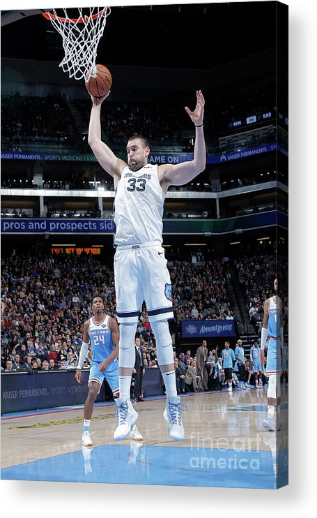 Nba Pro Basketball Acrylic Print featuring the photograph Marc Gasol by Rocky Widner