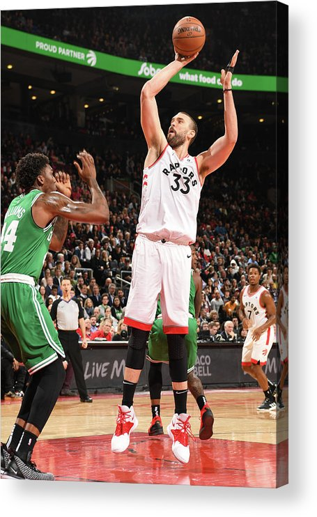 Nba Pro Basketball Acrylic Print featuring the photograph Marc Gasol by Ron Turenne