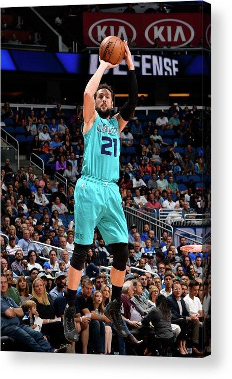 Nba Pro Basketball Acrylic Print featuring the photograph Marco Belinelli by Fernando Medina