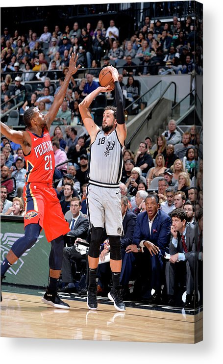 Nba Pro Basketball Acrylic Print featuring the photograph Marco Belinelli by Mark Sobhani
