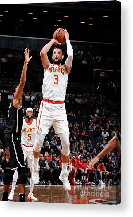 Nba Pro Basketball Acrylic Print featuring the photograph Marco Belinelli by Nathaniel S. Butler
