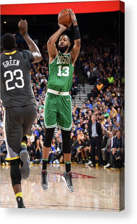 Nba Pro Basketball Acrylic Print featuring the photograph Marcus Morris by Andrew D. Bernstein