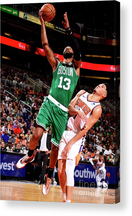Nba Pro Basketball Acrylic Print featuring the photograph Marcus Morris by Barry Gossage