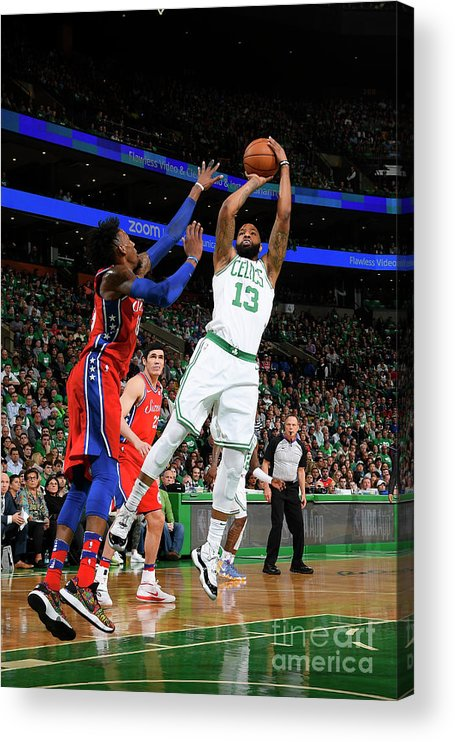 Playoffs Acrylic Print featuring the photograph Marcus Morris by Brian Babineau