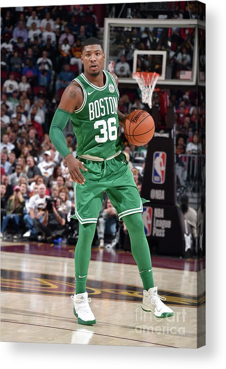 Nba Pro Basketball Acrylic Print featuring the photograph Marcus Smart by David Liam Kyle