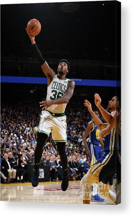 Nba Pro Basketball Acrylic Print featuring the photograph Marcus Smart by Garrett Ellwood