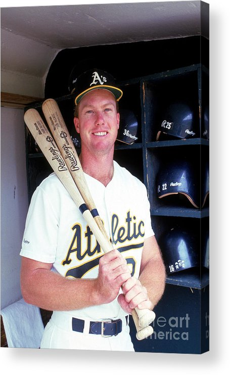 1980-1989 Acrylic Print featuring the photograph Mark Mcgwire by Michael Zagaris