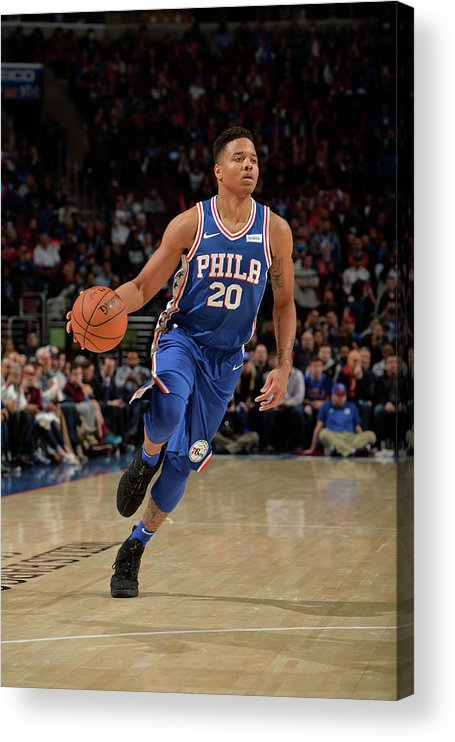 Nba Pro Basketball Acrylic Print featuring the photograph Markelle Fultz by David Dow