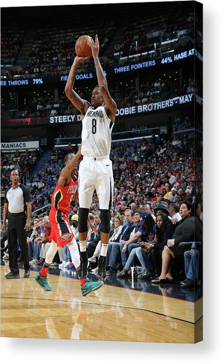 Smoothie King Center Acrylic Print featuring the photograph Marshon Brooks by Layne Murdoch Jr.