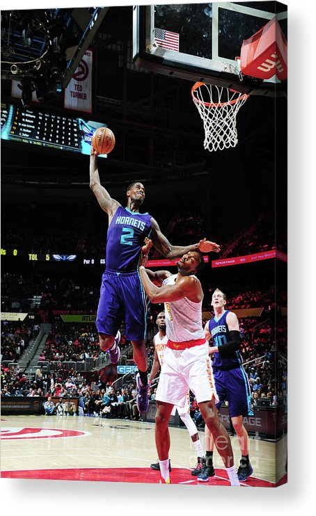 Atlanta Acrylic Print featuring the photograph Marvin Williams and Dwight Howard by Scott Cunningham