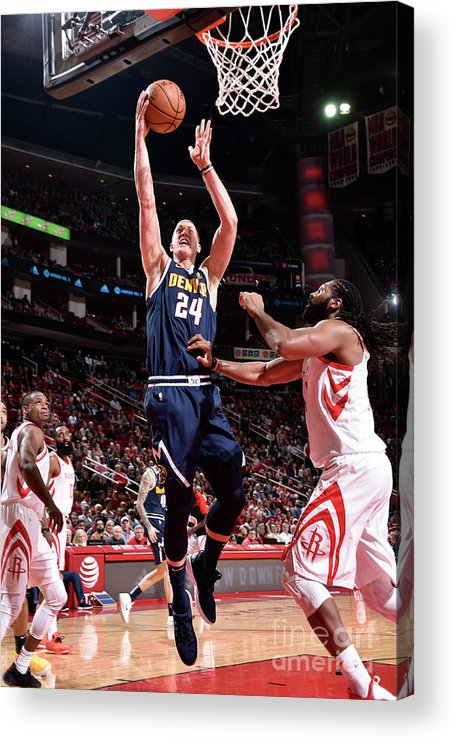 Nba Pro Basketball Acrylic Print featuring the photograph Mason Plumlee by Bill Baptist