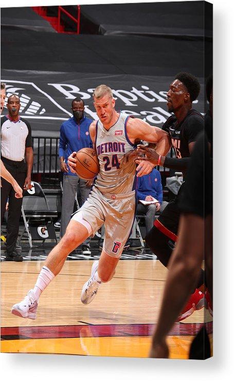 Nba Pro Basketball Acrylic Print featuring the photograph Mason Plumlee by Issac Baldizon