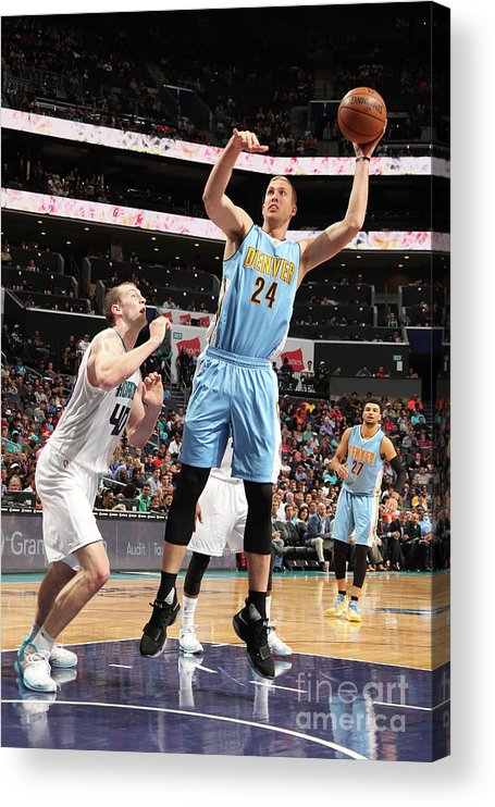 Nba Pro Basketball Acrylic Print featuring the photograph Mason Plumlee by Kent Smith