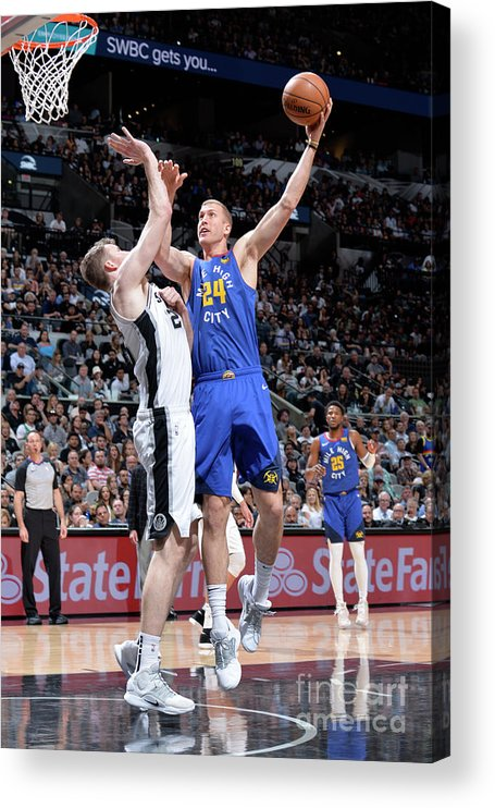 Playoffs Acrylic Print featuring the photograph Mason Plumlee by Mark Sobhani