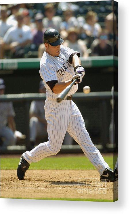 National League Baseball Acrylic Print featuring the photograph Matt Holliday by John Williamson