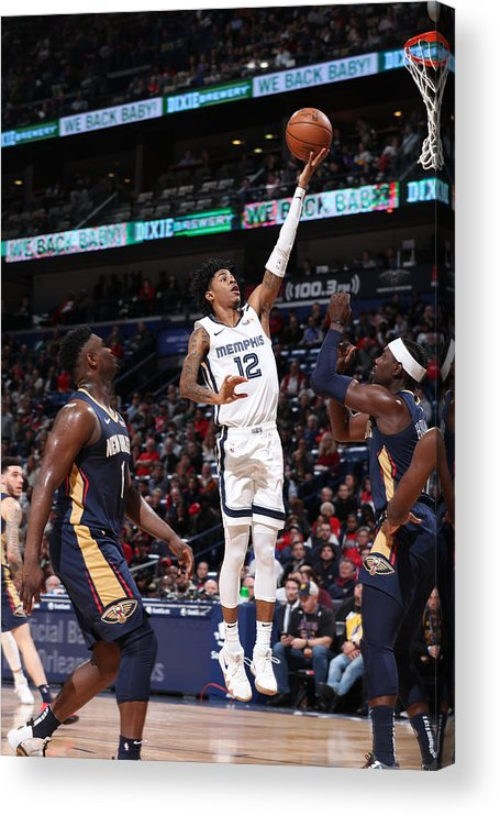Nba Pro Basketball Acrylic Print featuring the photograph Memphis Grizzlies v New Orleans Pelicans by Joe Murphy