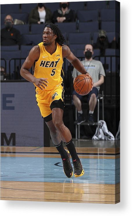 Nba Pro Basketball Acrylic Print featuring the photograph Miami Heat v Memphis Grizzlies by Joe Murphy