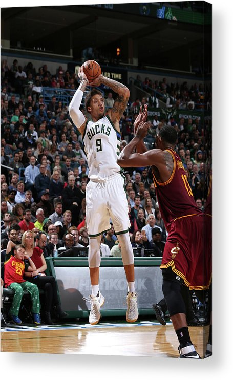Michael Beasley Acrylic Print featuring the photograph Michael Beasley by Gary Dineen