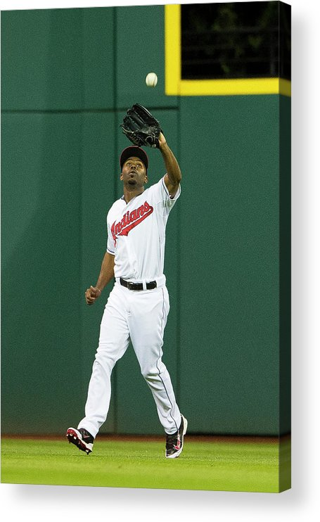Michael Bourn Acrylic Print featuring the photograph Michael Bourn and Xander Bogaerts by Jason Miller