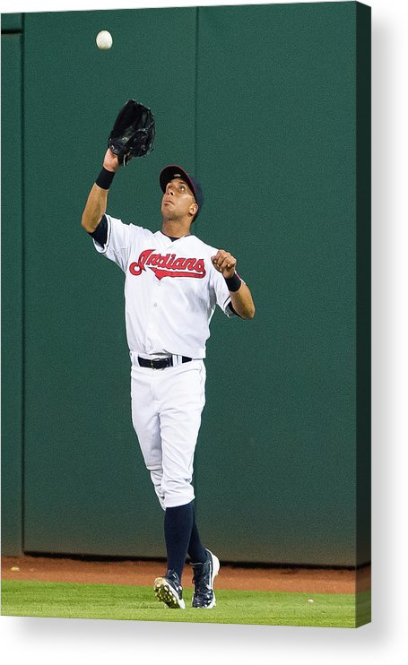 People Acrylic Print featuring the photograph Michael Brantley and Carlos Correa by Jason Miller