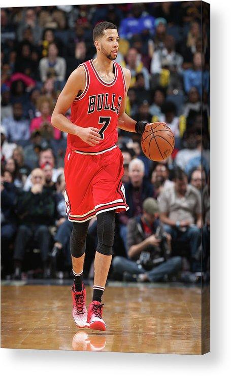 Nba Pro Basketball Acrylic Print featuring the photograph Michael Carter-williams by Joe Murphy