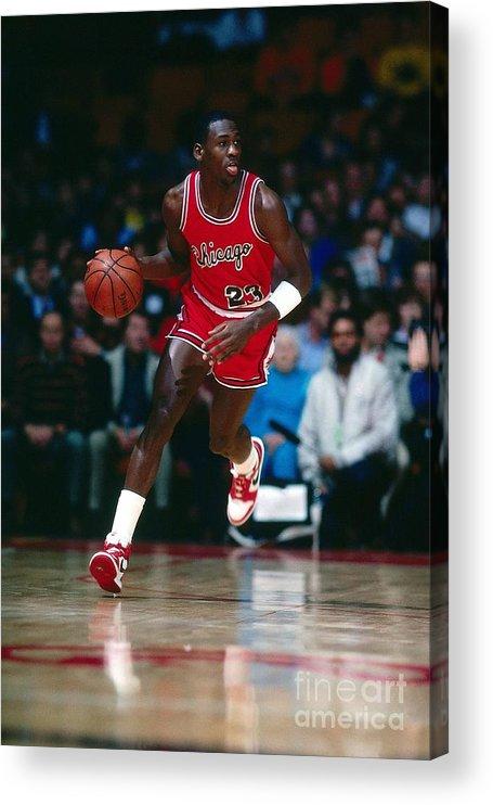 Chicago Bulls Acrylic Print featuring the photograph Michael Jordan by Scott Cunningham