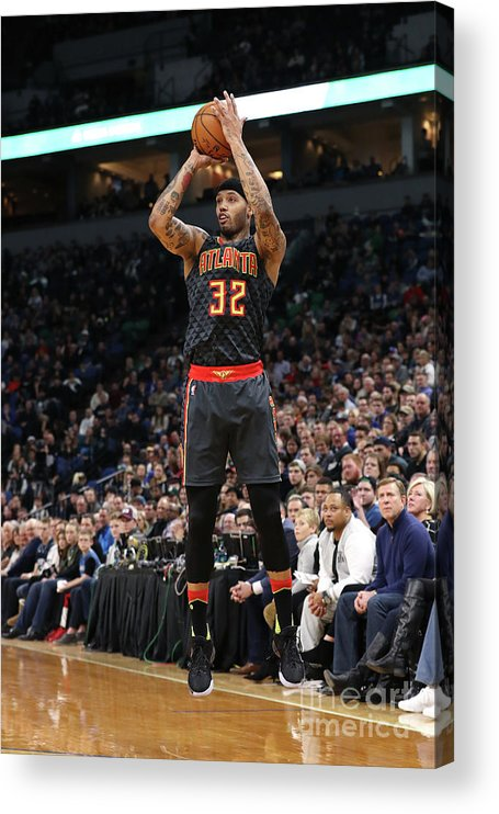 Nba Pro Basketball Acrylic Print featuring the photograph Mike Scott by Jordan Johnson