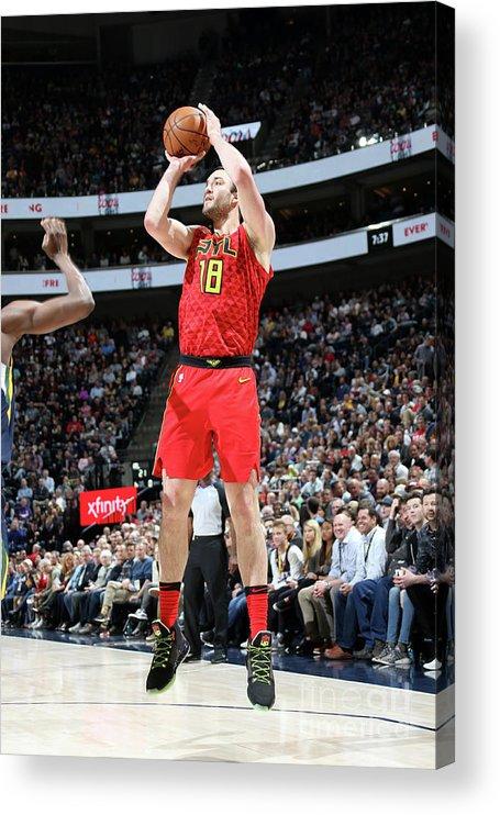 Nba Pro Basketball Acrylic Print featuring the photograph Miles Plumlee by Melissa Majchrzak