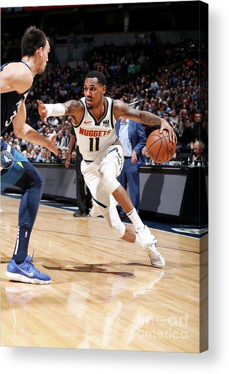 Nba Pro Basketball Acrylic Print featuring the photograph Monte Morris by David Sherman