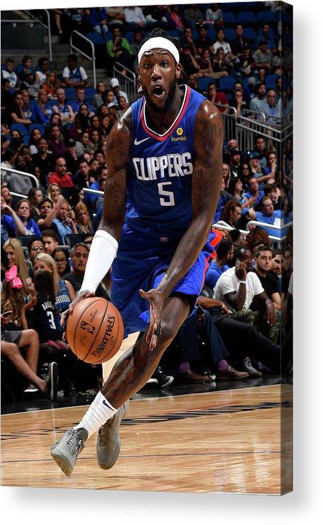 Nba Pro Basketball Acrylic Print featuring the photograph Montrezl Harrell by Fernando Medina