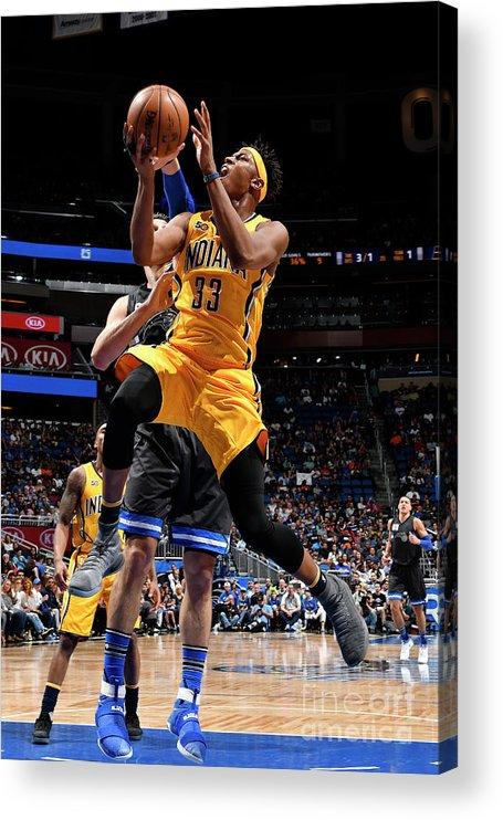 Nba Pro Basketball Acrylic Print featuring the photograph Myles Turner by Fernando Medina