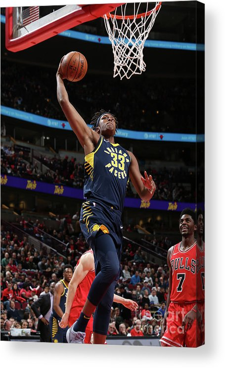 Nba Pro Basketball Acrylic Print featuring the photograph Myles Turner by Gary Dineen