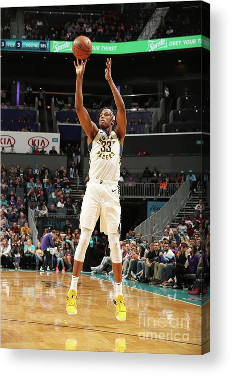 Nba Pro Basketball Acrylic Print featuring the photograph Myles Turner by Kent Smith