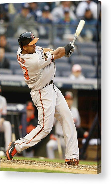American League Baseball Acrylic Print featuring the photograph Nelson Cruz by Al Bello