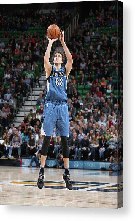 Nba Pro Basketball Acrylic Print featuring the photograph Nemanja Bjelica by Melissa Majchrzak
