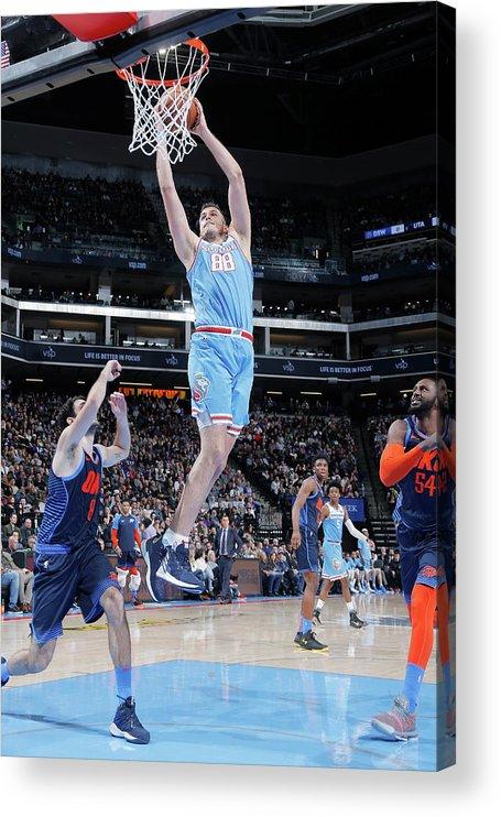 Nba Pro Basketball Acrylic Print featuring the photograph Nemanja Bjelica by Rocky Widner