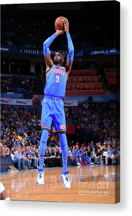 Nba Pro Basketball Acrylic Print featuring the photograph Nerlens Noel by Bill Baptist