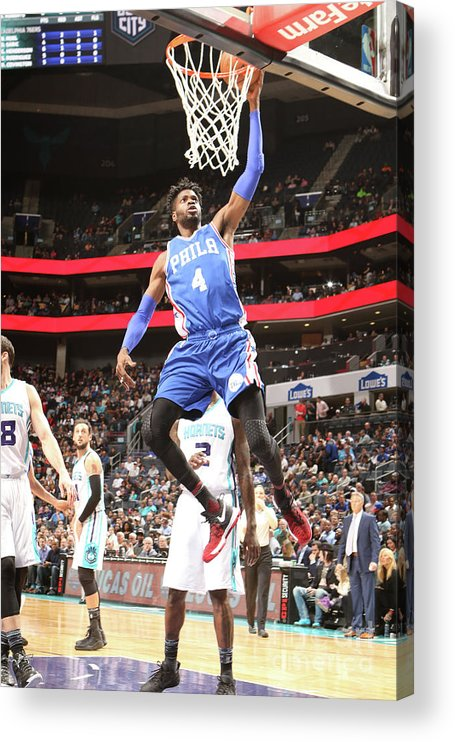 Nba Pro Basketball Acrylic Print featuring the photograph Nerlens Noel by Brock Williams-smith