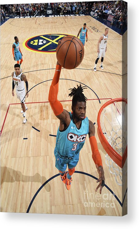 Nba Pro Basketball Acrylic Print featuring the photograph Nerlens Noel by Garrett Ellwood