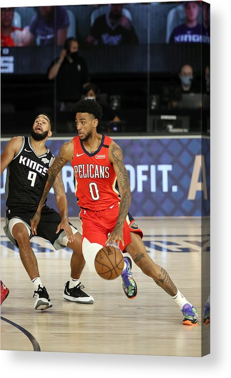 Nba Pro Basketball Acrylic Print featuring the photograph New Orleans Pelicans v Sacramento Kings by Joe Murphy