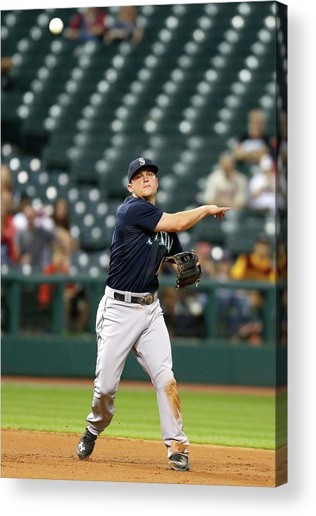 People Acrylic Print featuring the photograph Nick Swisher and Kyle Seager by Kirk Irwin