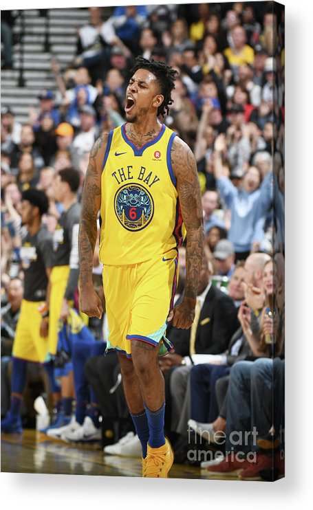 Nba Pro Basketball Acrylic Print featuring the photograph Nick Young by Garrett Ellwood