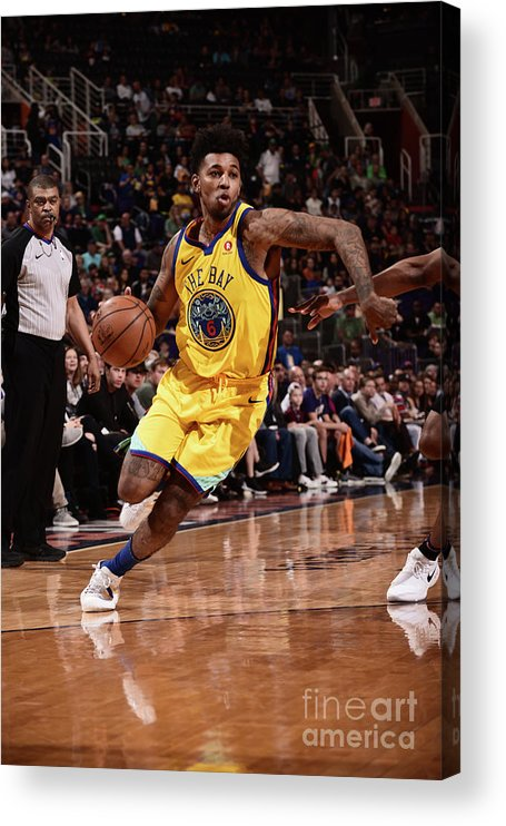 Sports Ball Acrylic Print featuring the photograph Nick Young by Michael Gonzales