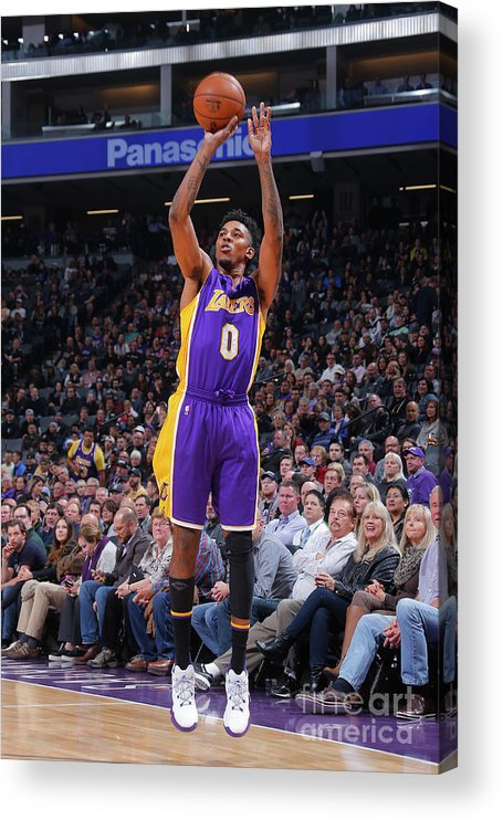 Nba Pro Basketball Acrylic Print featuring the photograph Nick Young by Rocky Widner
