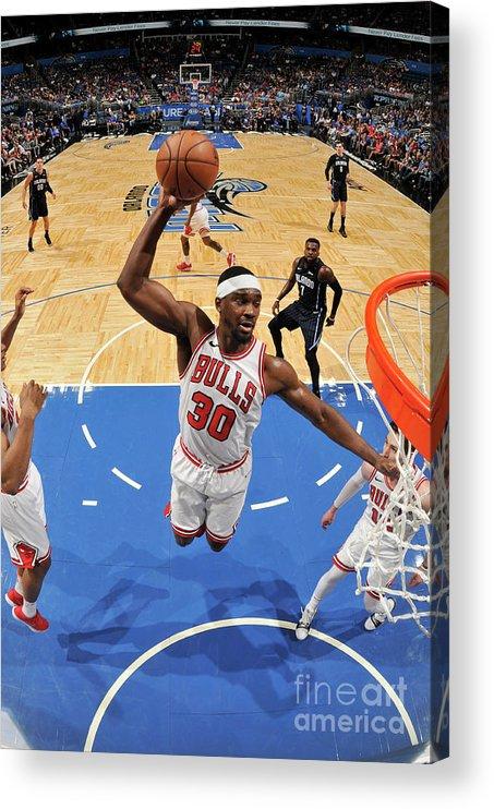 Nba Pro Basketball Acrylic Print featuring the photograph Noah Vonleh by Fernando Medina