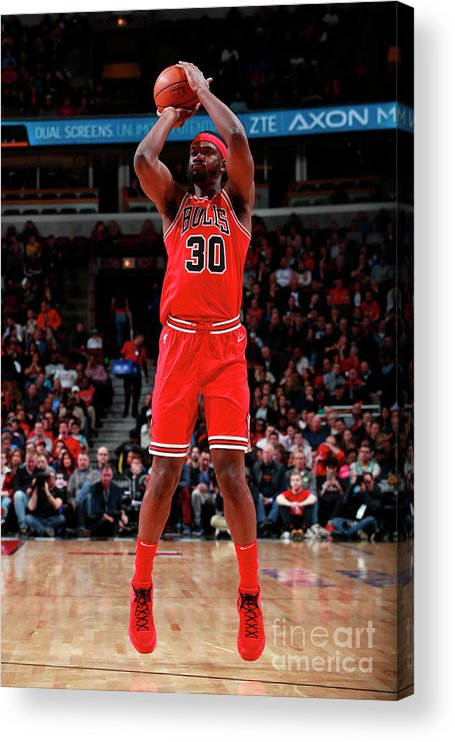 Nba Pro Basketball Acrylic Print featuring the photograph Noah Vonleh by Jeff Haynes