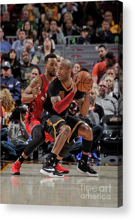 Nba Pro Basketball Acrylic Print featuring the photograph Norman Powell and Dahntay Jones by David Liam Kyle